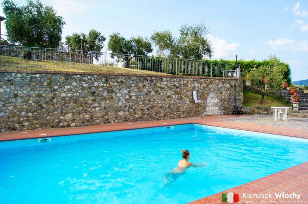 basen w Hotelu La Loggia Villa Gloria w regionie Chianti, noclegi we Włoszech (fot. Łukasz Ropczyński, kierunekwlochy.pl)