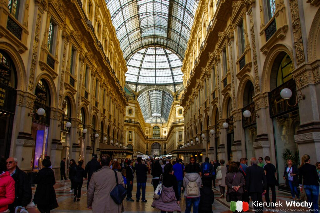 Galeria Wiktora Emanuela II w Mediolanie, noclegi we Włoszech (fot. Łukasz Ropczyński, kierunekwlochy.pl)