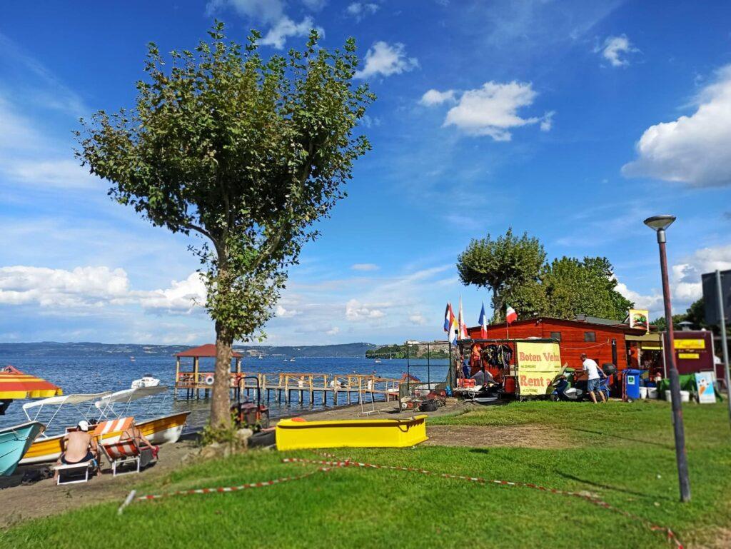 plaża w Capodimonte, jezioro Bolsena (fot. Klaudia Cach)