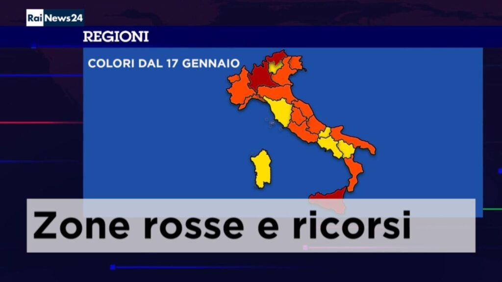 Podział regionów Włoch na poszczególne strefy od niedzieli 17.01.2021 r.