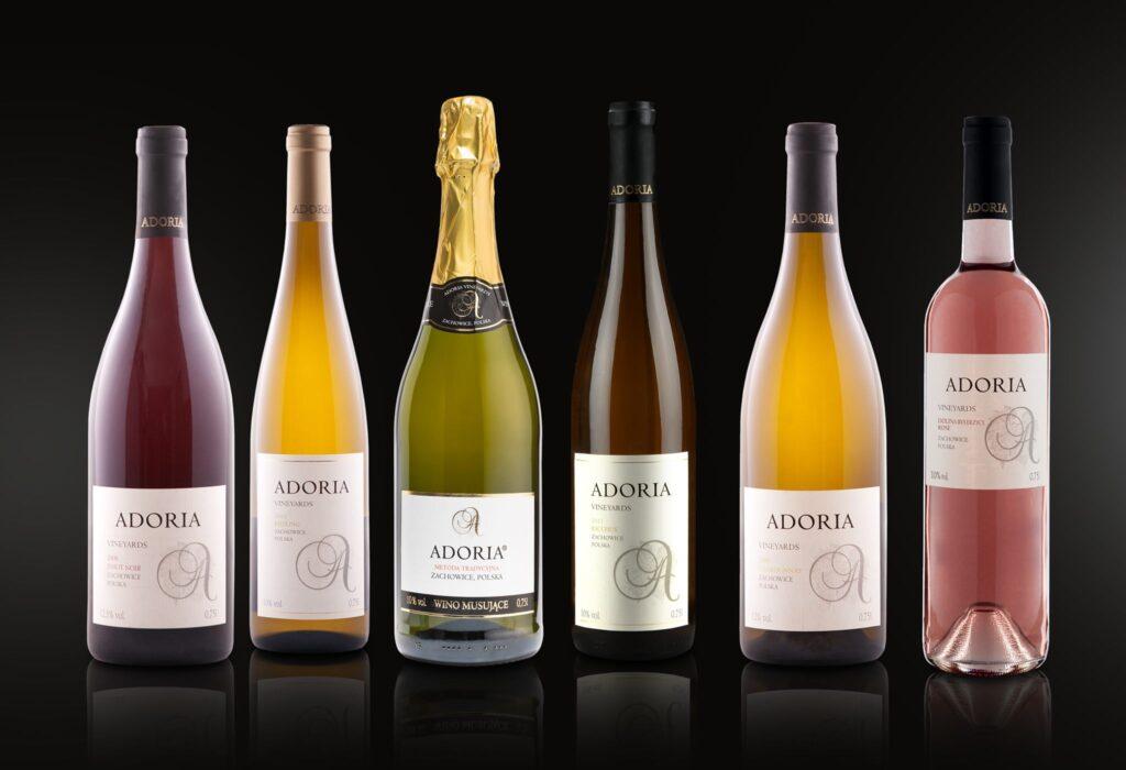 wina polskie produkowane w winnicy Adoria