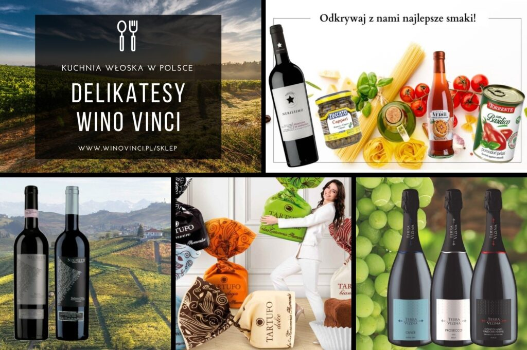 Delikatesy Wino Vinci, kuchnia włoska w Polsce