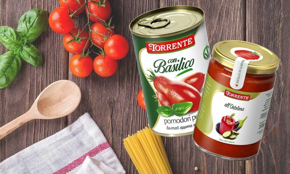 La Torrente - sosy pomidorowe i warzywne, pomidory w puszce i passaty