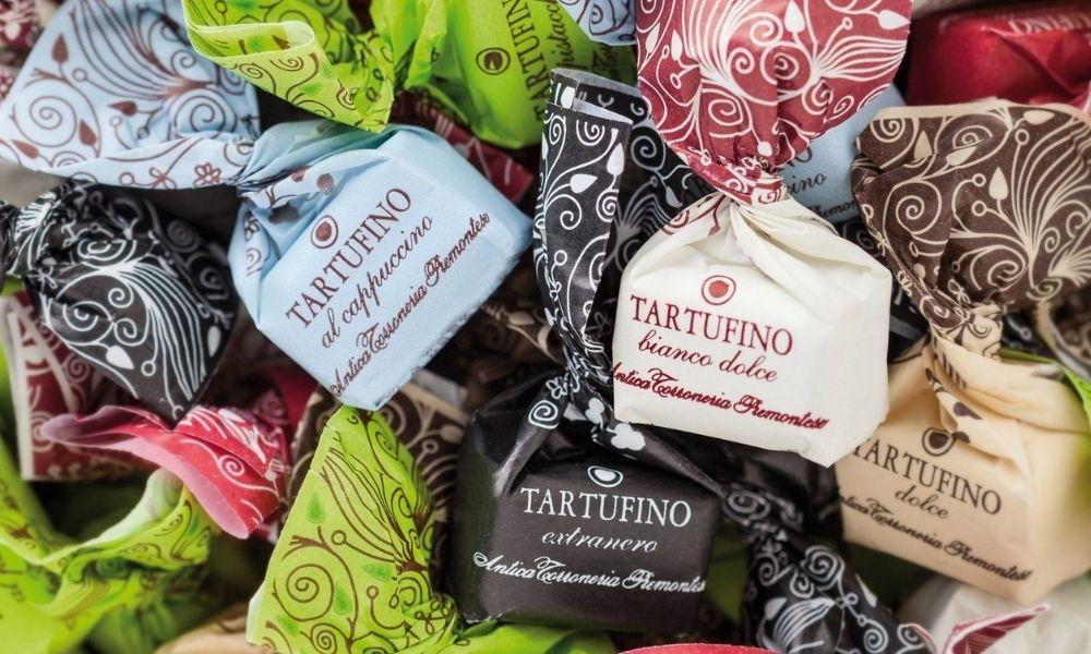 słodkie trufle od Antica Torroneira Piemontese