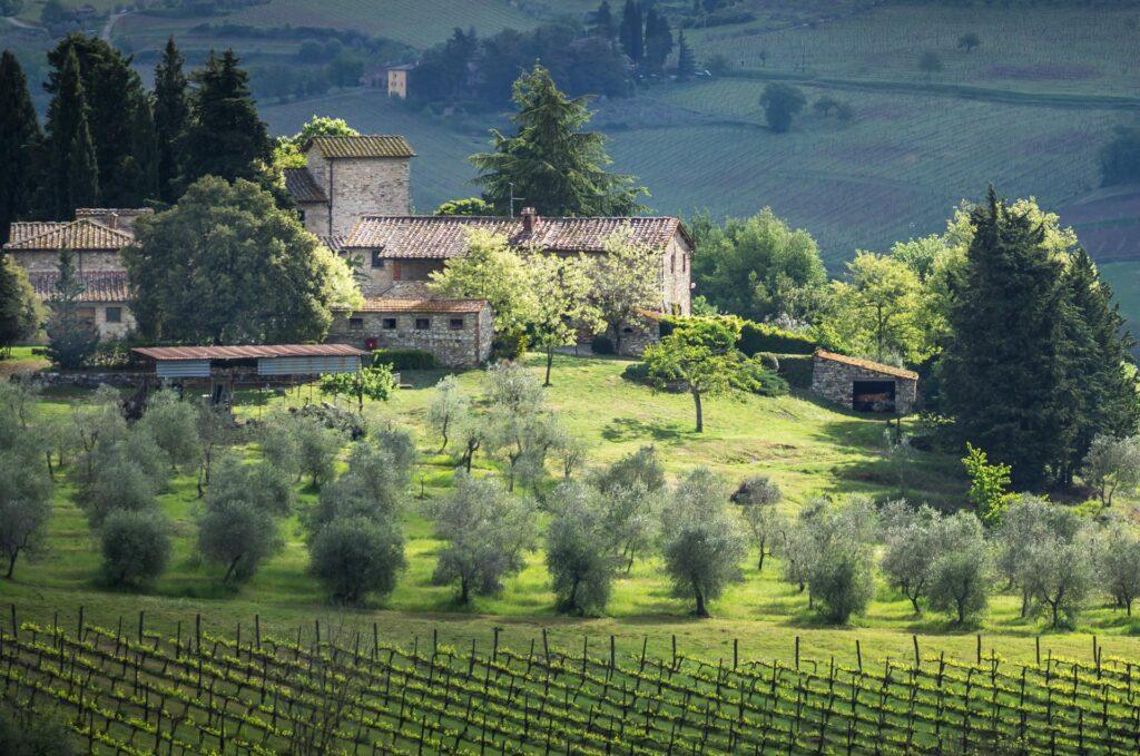 willa Masseto in Chianti w Toskanii, noclegi we Włoszech u Polaków