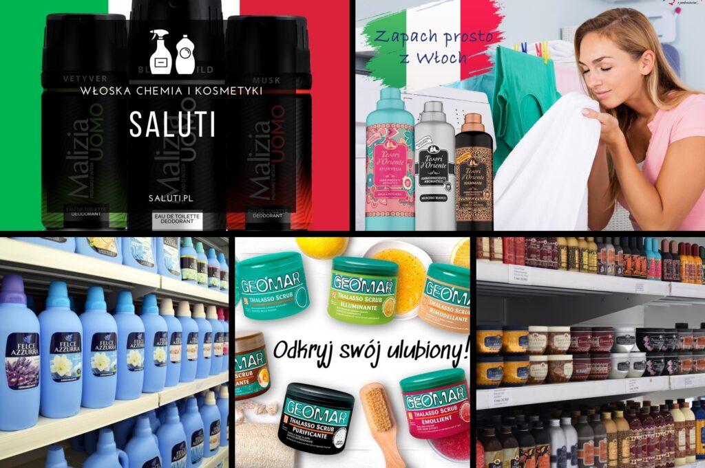Sklep www.saluti.pl to bezpośredni importer oferujący klientom najpopularniejsze i najlepsze włoskie marki kosmetyków oraz chemii gospodarczej do użytku domowego