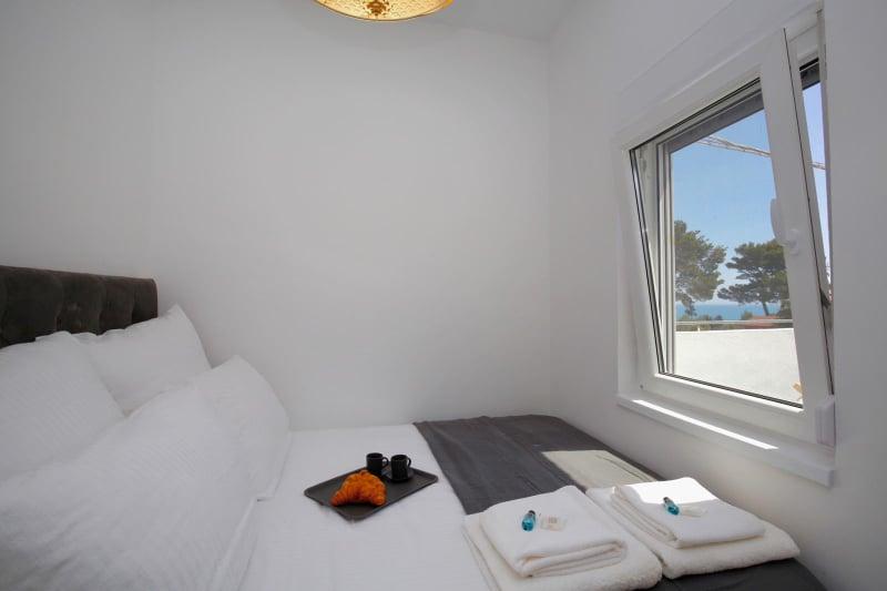 sypialnia w apartamencie Vista Mare 1