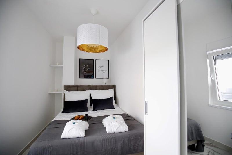 sypialnia, apartament Vista Mare 2 w Vieste