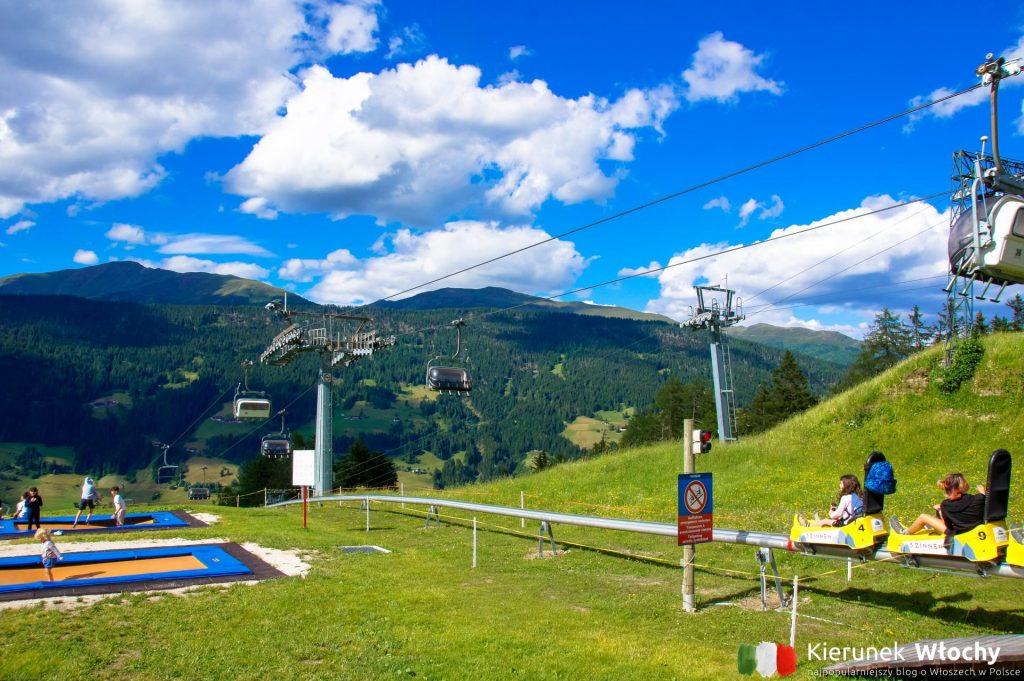 Funbob to pierwszy i najdłuższy letni tor saneczkowy w Południowym Tyrolu (fot. Łukasz Ropczyński, kierunekwlochy.pl)